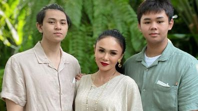 Popstar Yuni Shara with sons talks about watching porn with them