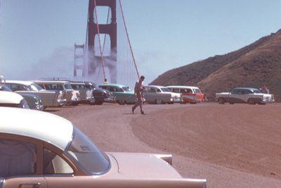 <strong>The Golden Gate Bridge,&nbsp;San Francisco in the 1950s</strong>