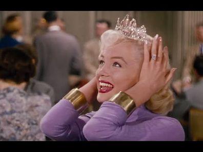 Most expensive movie engagement rings, Marilyn Monroe, Gentlemen Prefer Blondes