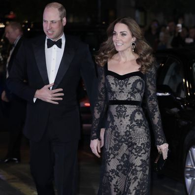 The Duke and Duchess of Cambridge arrive at the Royal Variety Performance on Monday.
