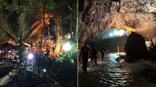 Musk visited the cave site before the rescue operation was carried out