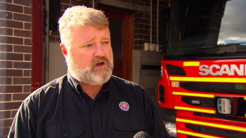 Fire Brigade Employees' Union State Secretary, Leighton Drury, has threatened to take on the Berejiklian government over the changes, which he says could cost jobs. Picture: 9NEWS