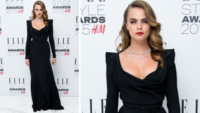 Cara Delevingne won 'Breakthrough Actress of the Year'. (Getty)