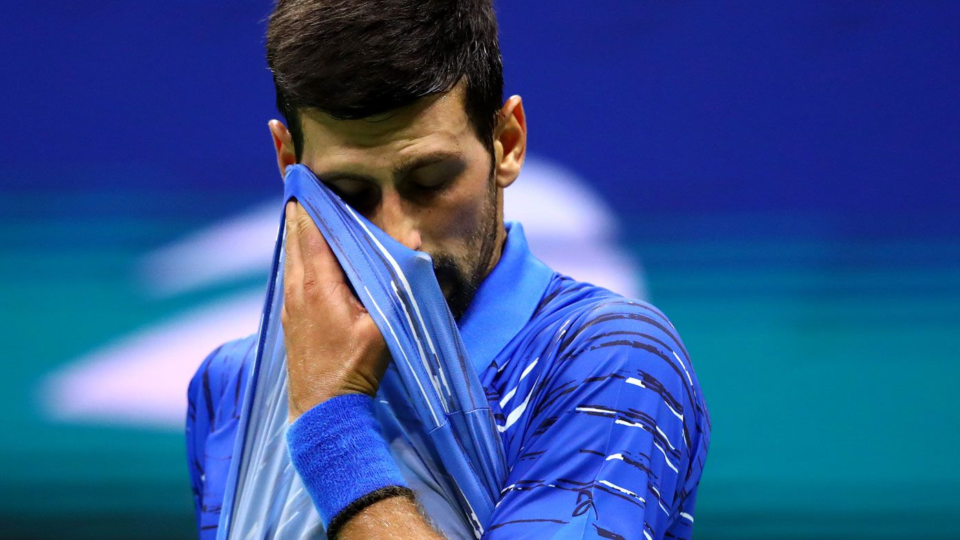 'Just had a little chat': Novak Djokovic steely over stoush with mystery figure at US Open