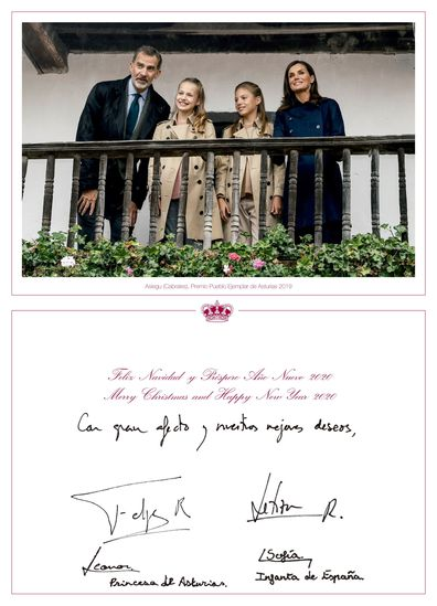Spanish royal family Christmas
