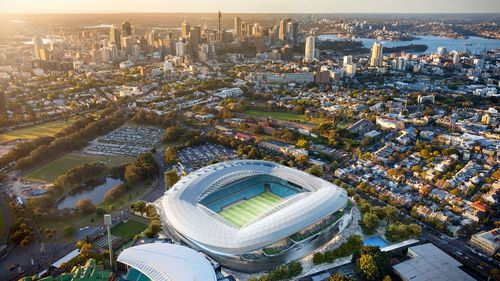 The design for the new $729 million Sydney Football Stadium has  been revealed.