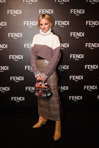 Nadia Fairfax at the opening of Fendi's new boutique in Collins Street Melbourne