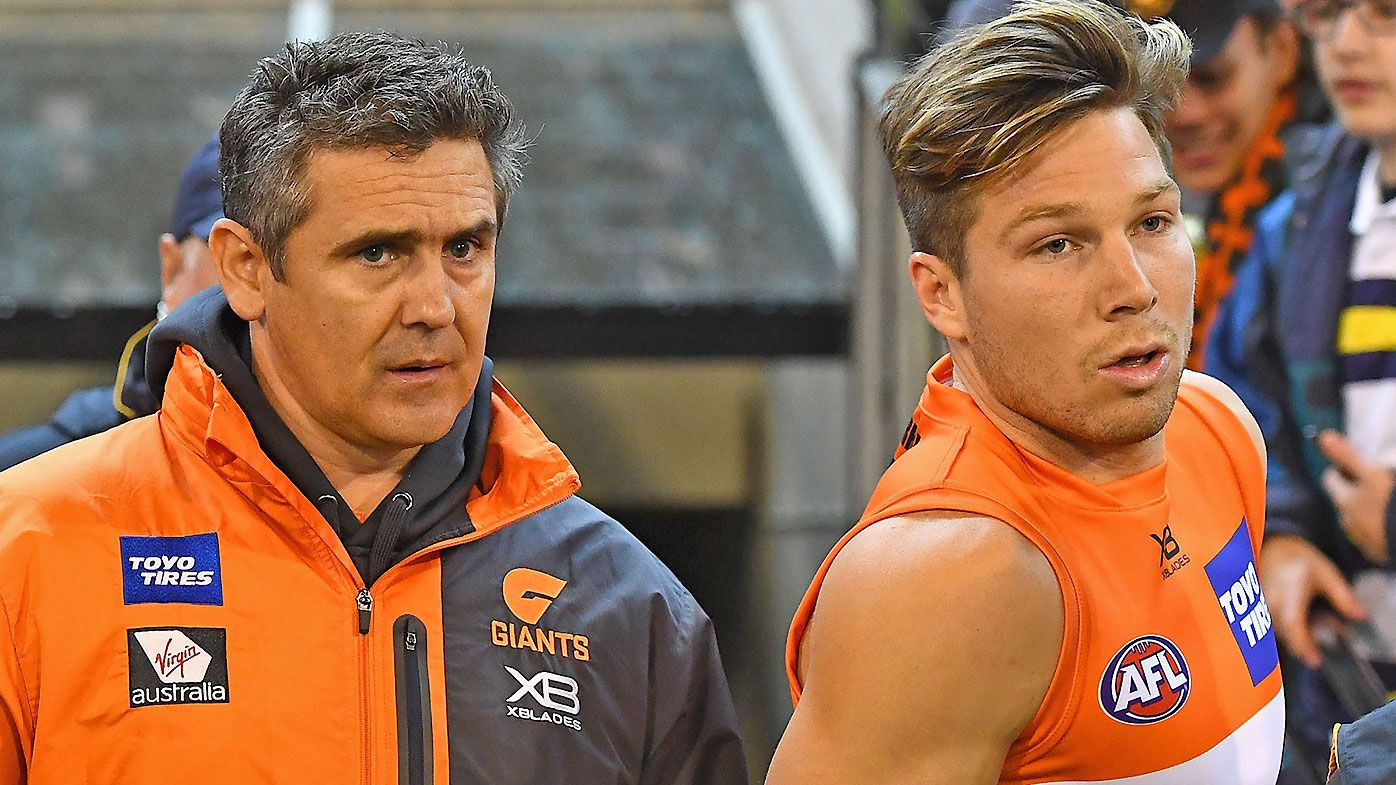 GWS Giants urged to deliver brutal home truths to Toby Greene after umpire clash