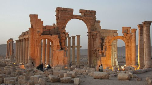 Ancient ruins in the Syrian city of Palmyra. (AAP)