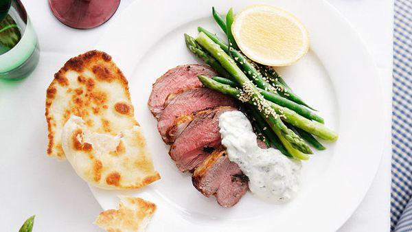 Quick oregano and garlic roast lamb