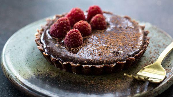 Sneh Roy's raw chocolate tart