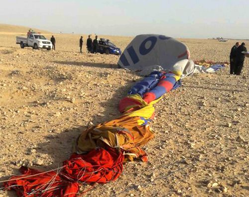 The hot air balloon crash-landed in Luxor, Egypt. (AAP)