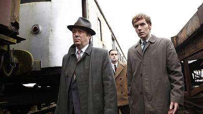 Shaun Evans (right) plays Inspector Morse.