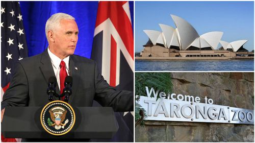 Sydney sightseeing day planned for US Vice President Mike Pence