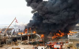 Huge fire breaks out in Beirut's port a month after explosion disaster