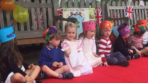 The students nominated a Meghan and Harry from each class. (Supplied)