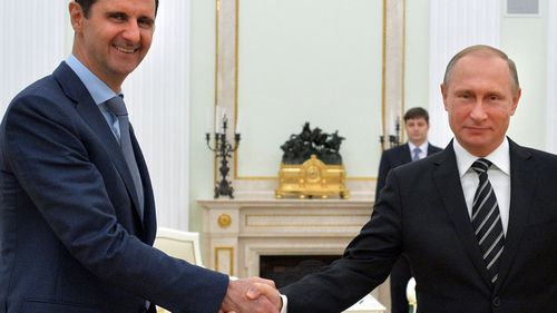 Syrian President Bahar Assad is backed by Russian leader Vladimir Purtin. (AP).