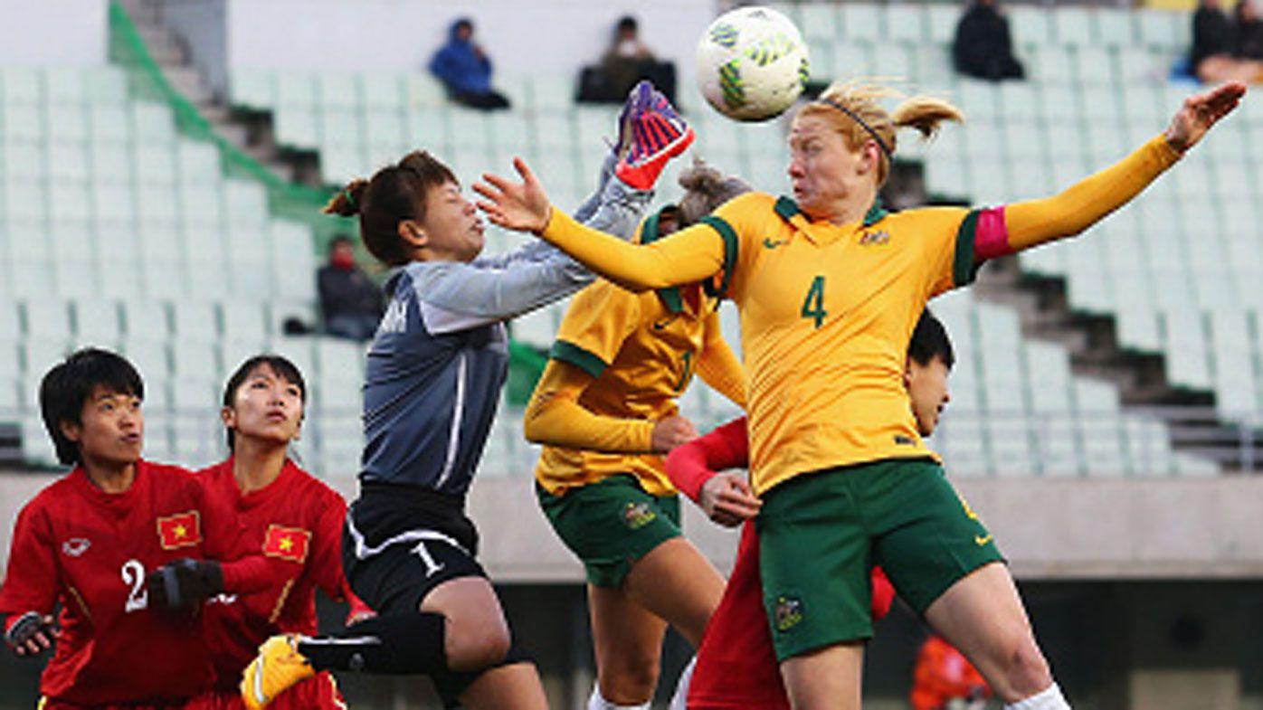 Matildas enjoy goal boost in Vietnam rout