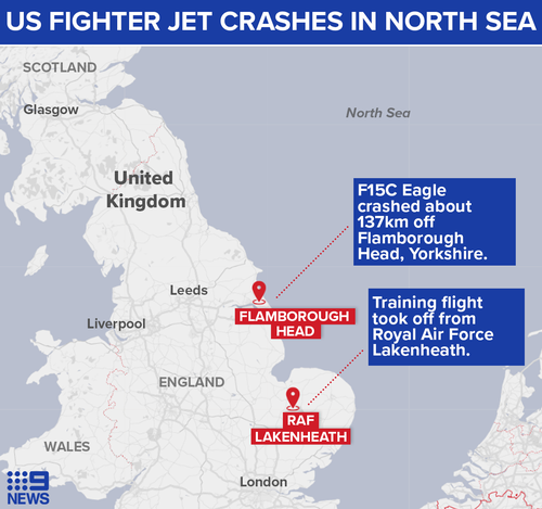 US Air Force fighter jet crash site