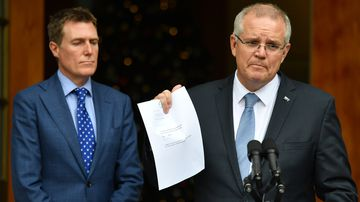 Christian Porter and Scott Morrison