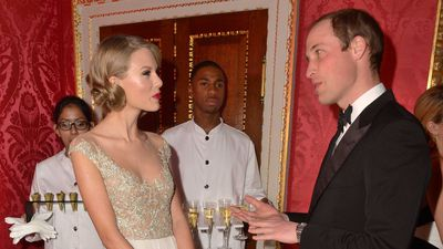 Prince William with Taylor Swift