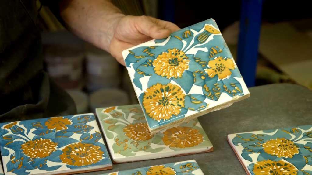 Gaudi tiles painstakingly restored