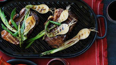 <strong>Grilled sirloin steaks with picada</strong>