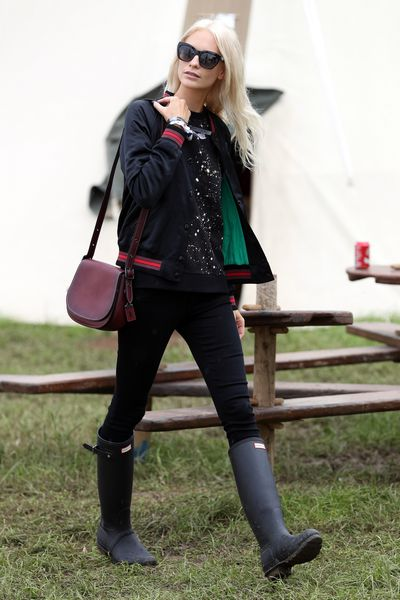 A little breezy, slightly stringy, Poppy Delevingne's festival-ready hair.