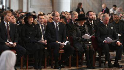 Royals attend Grenfell fire memorial
