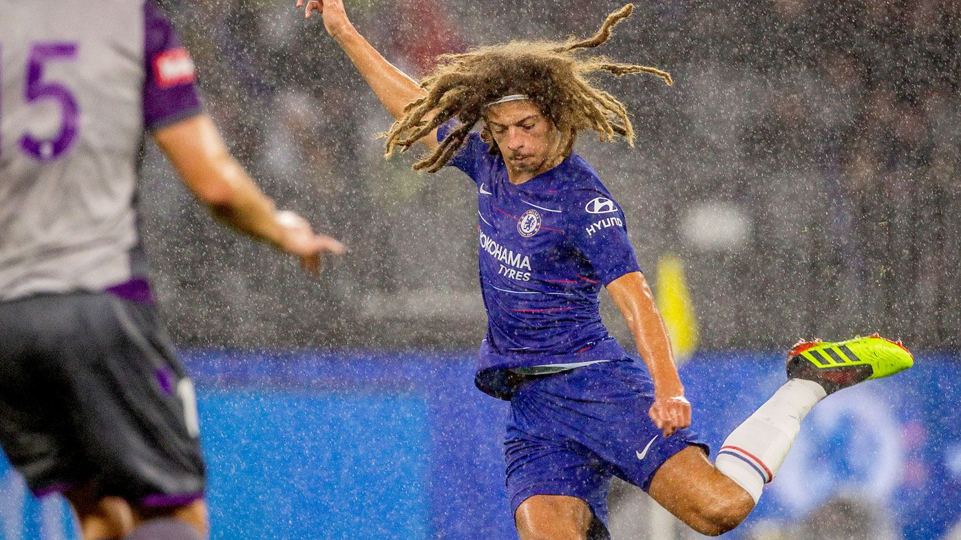 Ethan Ampadu of Chelsea during the friendly match against Perth Glory at Optus Stadium in Perth. (AAP)
