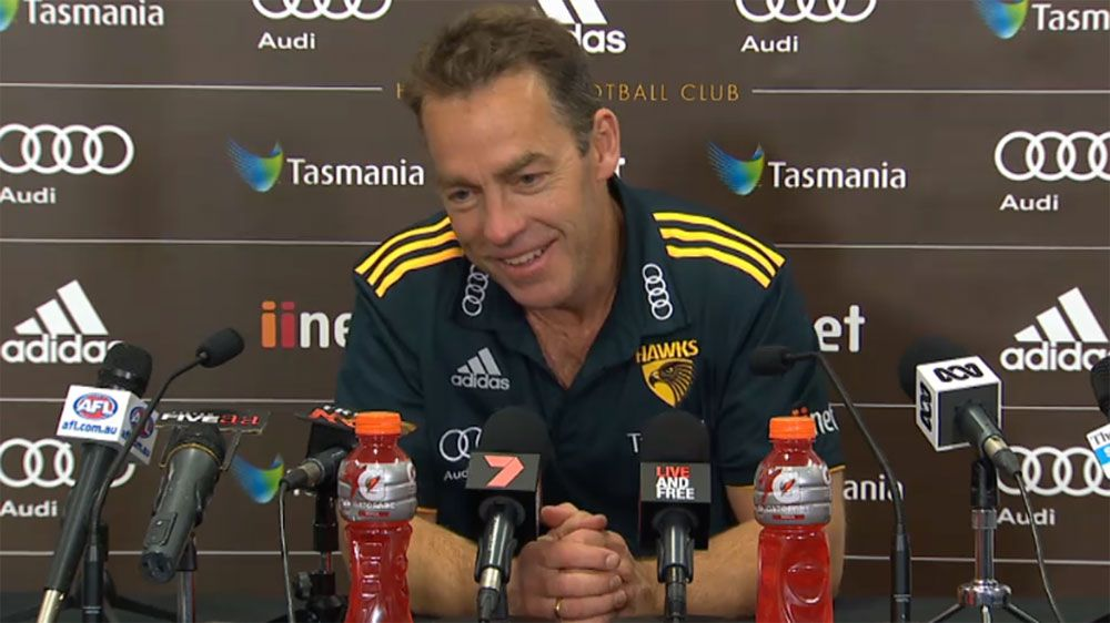 Hawthorn coach Alistair Clarkson says Hawks out of AFL premiership contention