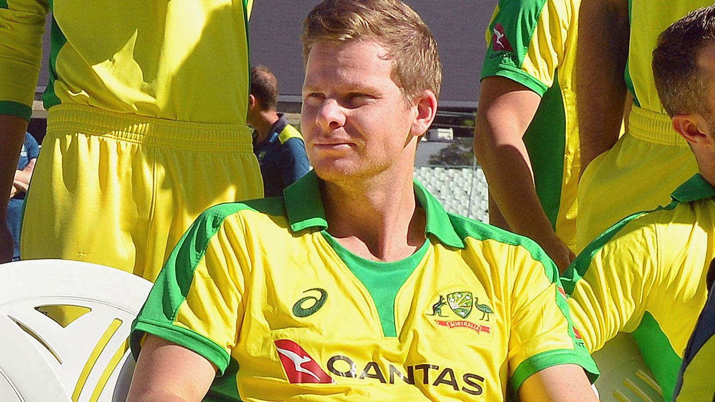 Steve Smith during the Australian national cricket team photo session at Newlands Cricket Stadium