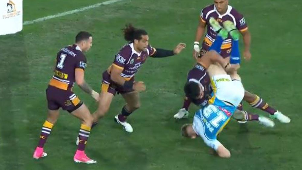 Brisbane forward Joe Ofahengaue cops three-game NRL ban for horror hit