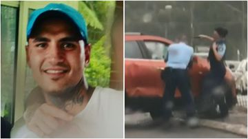 Josh Ventura, 29, was arrested after an intense police pursuit in Sydney's south yesterday.