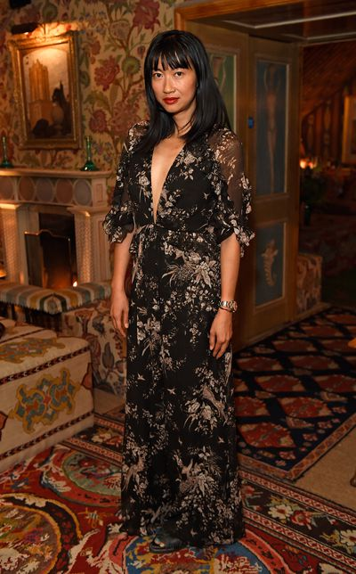 DJ Mimi Xu in Zimmermann, celebrating the launch of Zimmermann's London flagship store in Mayfair at the private members' club 5 Hertford St, London.
