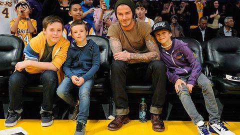 Cute alert: The Beckham boys form a band