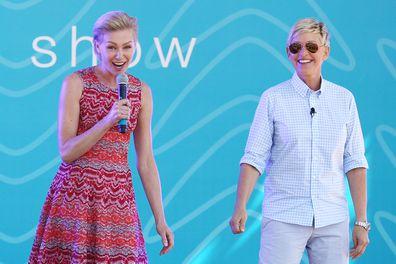 Ellen DeGeneres, Portia de Rossi, Birrarung Marr, March 26, 2013, Melbourne, Australia. DeGeneres, Australia