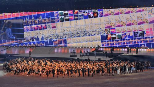 Dancers perform at the 2014 Commonwealth Games Opening Ceremony. (Getty)