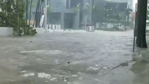 Streets were flooded when Irma hit Florida.