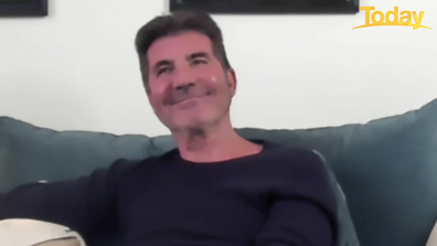 A smiling Simon Cowell chatted to Today's Karl and Ally.