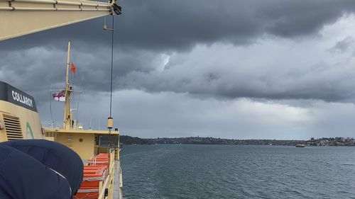Moody skies seen from the Manly Ferry.