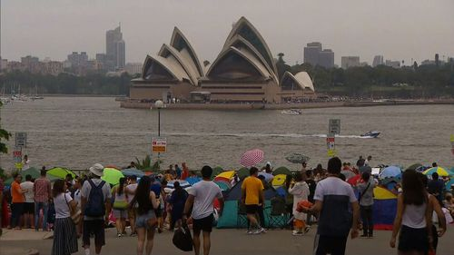 It was a hazy day in Sydney this NYE.