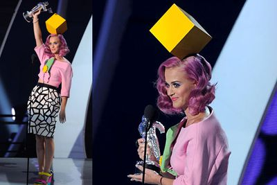 Katy Perry's MTV Music Awards headpiece - brought to you by the Commonwealth Bank?