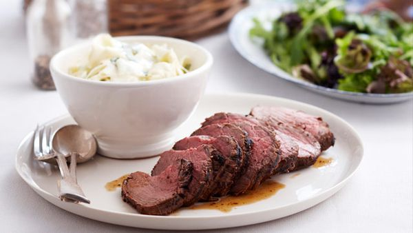 Roast beef with celeriac remoulade