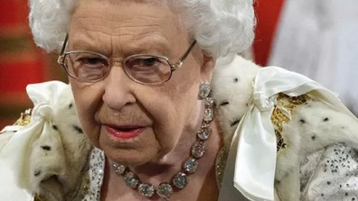 The Queen appeared to be struggling with a cold during the speech.