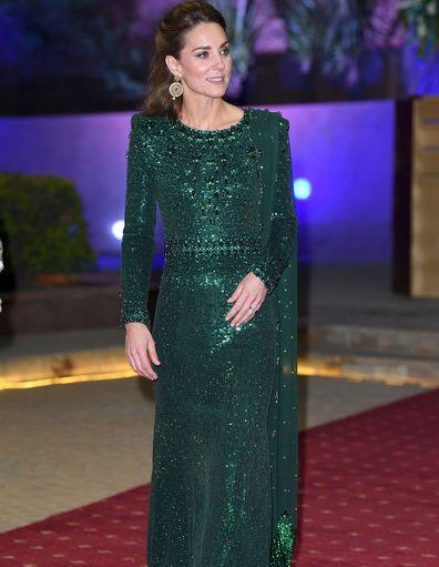 Kate Middleton wears green in Pakistan