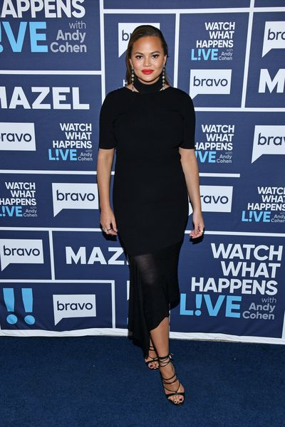 Chrissy Teigen atWatch What Happens Live With Andy Cohen in New York in February, 2018