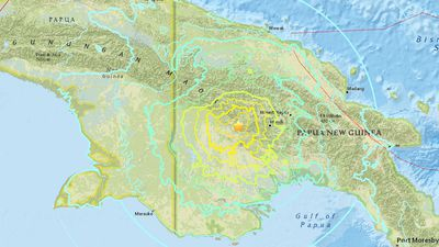 Large earthquake rattles Papua New Guinea