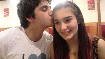 Cassidy Trevan with her boyfriend Luke.