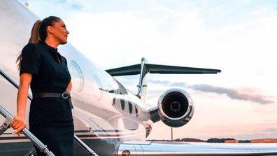Private jet flight attendant Mary Kalymnou